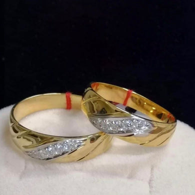 ARIES Diamond Wedding Rings in 14K Gold