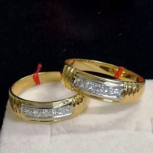 VERN Diamond Wedding Rings in 14K Gold