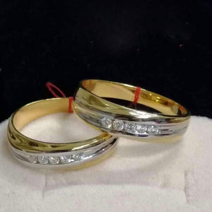 OSLO Diamond Wedding Rings in 14K Gold
