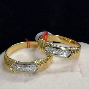 SEOUL Diamond Wedding Rings in 14K Gold