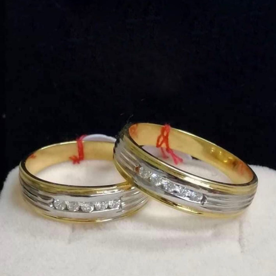 GREECE Diamond Wedding Rings in 14K Gold