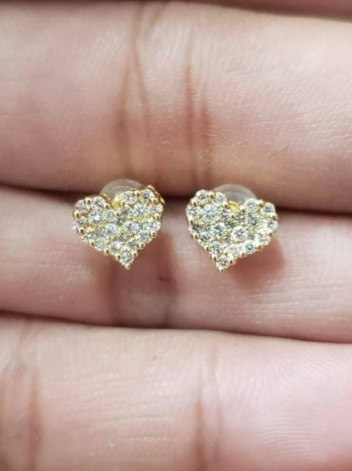 Diamond Heart Earrings .68ct - ZNZ Jewelry Philippines