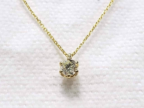 .25ct Diamond Necklace, VS1, L, 18K Gold, 16 inches - ZNZ Jewelry Philippines