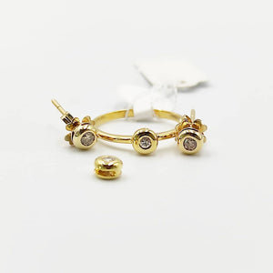 .20ctw Donut Diamond Stud Earrings, Ring, Pendant Jewelry Set in 14K Yellow Gold