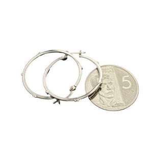 Hoop Earrings White Gold 18k
