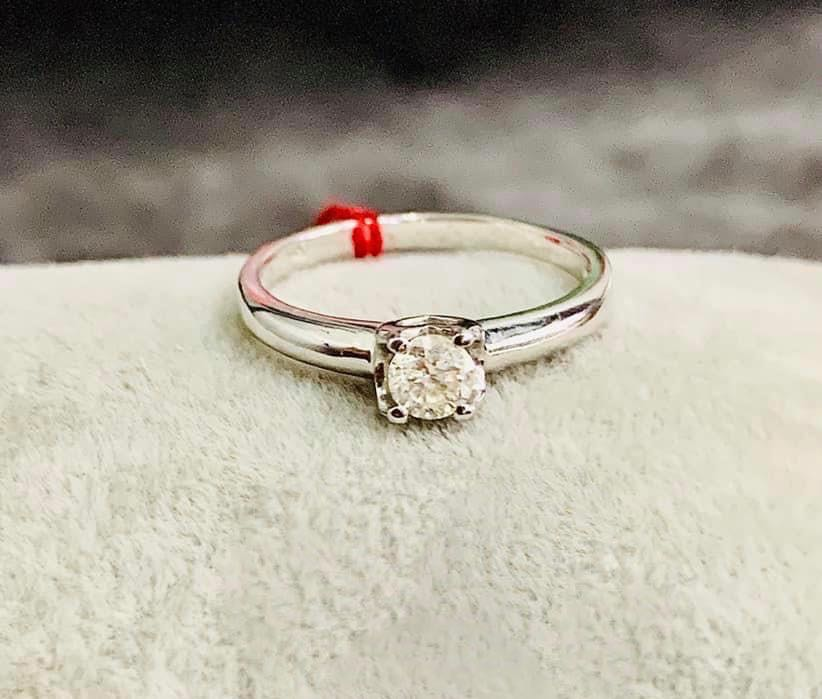 Engagement Ring White Gold, .30ct Diamond, MARIZA