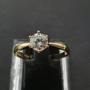 IVY 18K Gold Round 6-Prong Engagement Ring