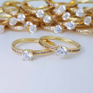 FELIZE Full Eternity Engagement Ring in 18K Gold