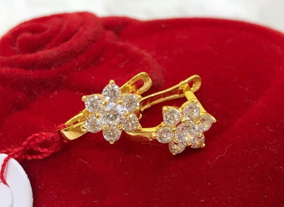 18K Gold Rosita Earrings ftt54 - ZNZ Jewelry Philippines