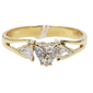 .30ct Heart Diamond Ring with .30ctw Side Diamonds, Ladies' Ring, Anniversary or Birthday Gift