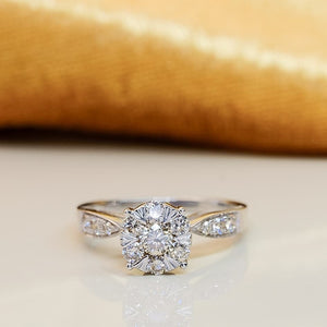 .66ctw Diamond Engagement Ring 18K White Gold
