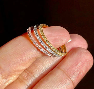 RORY Eternity Slim Diamond Ring in 14K White Gold/Yellow Gold/Rose Gold - ZNZ Jewelry Philippines