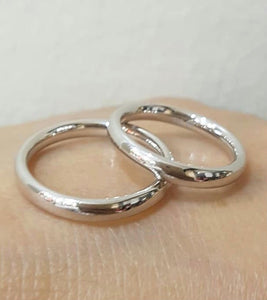 CARLOTT 18K White Gold Wedding Bands, Couple Rings - ZNZ Jewelry Philippines