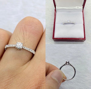 .22ct Diamond Engagement Ring in 18K White Gold - ZNZ Jewelry Philippines