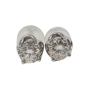 .40ctw Round Diamond Stud Earrings 18K Gold
