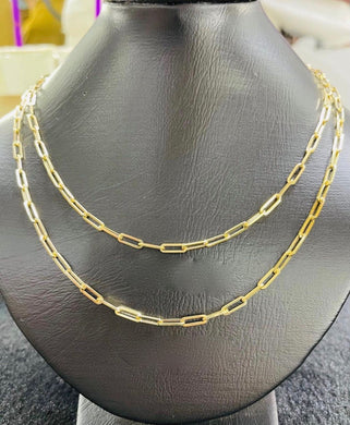 Paperclip Women's Necklace 18K Gold