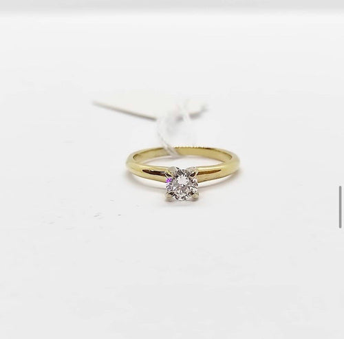 Diamond Solitaire Engagement Ring 14K Gold, Anniversary Ring, Gift - Pre-Order
