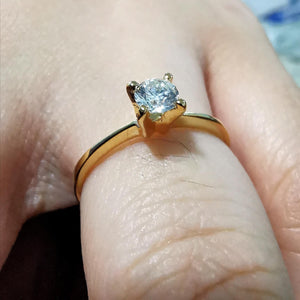 .20ct Diamond Solitaire Engagement Ring 18K Gold Pre-Order - ZNZ Jewelry Philippines