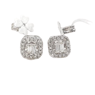 .20ctw Illusion Stud Earrings 14K White Gold