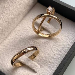 FAYRE Trio Engagement Ring with Wedding Band
