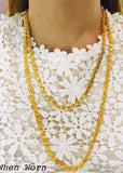 Damascus Chain Necklace for Men and Women, 21K Gold