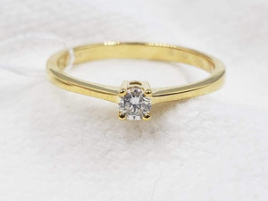 Diamond Engagement Ring, Ladies' Ring, Anniversary Gift, Birthday Gift, 14K Gold, .10ct Diamond, SERENE