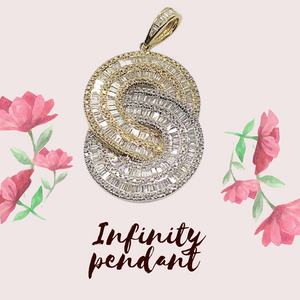 1.25ct Infinity Diamond Pendant 14K Two-Tone Gold