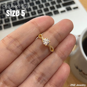 LUCIA 18K Gold Infinity Engagement Ring with Side Stones - ZNZ Jewelry Philippines