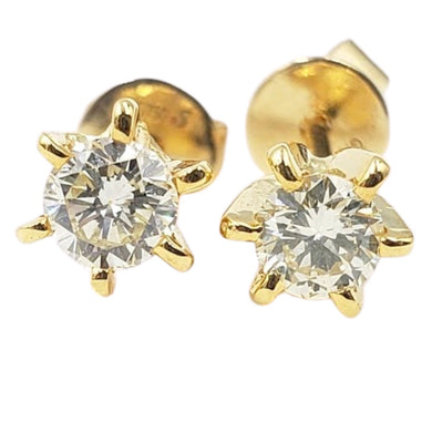 .15ct each Diamond Stud Earrings 14K White Gold