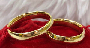 COLBY 18K Gold Wedding Bands, Couple Rings - ZNZ Jewelry Philippines