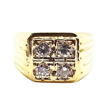 1ct Diamond Two-Squared Men's Ring 14K Gold