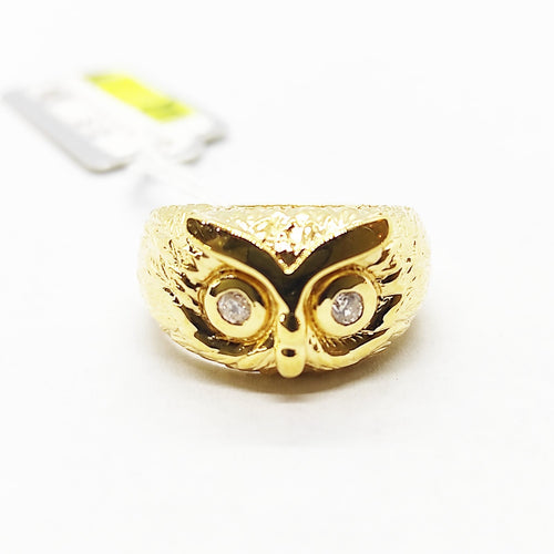 Owl Diamond Ring 18K Gold