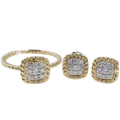 .45ctw Diamond Jewelry Set 14K Gold