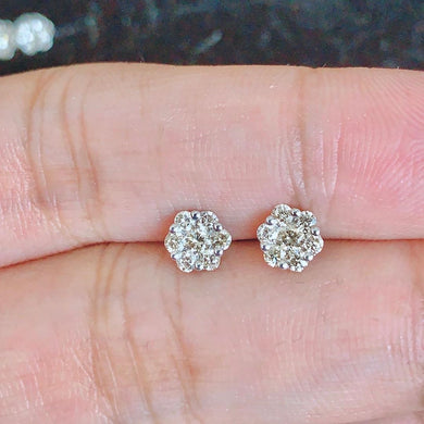 .50ctw Diamond Rositas Earrings in 18K WhiteGold Gift for Wife, Mom, Anniversary