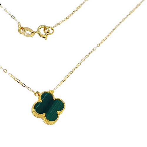 Women's Necklace 18K Gold Green