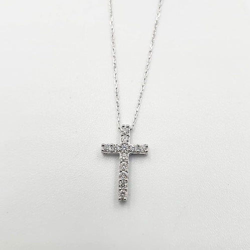 CECILY .16ct Diamond Cross Necklace - ZNZ Jewelry Philippines