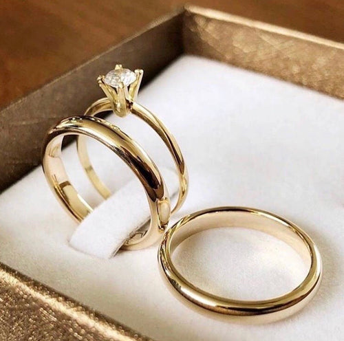 AZALEA Trio Engagement Ring 14K Made-to-Order - ZNZ Jewelry Philippines