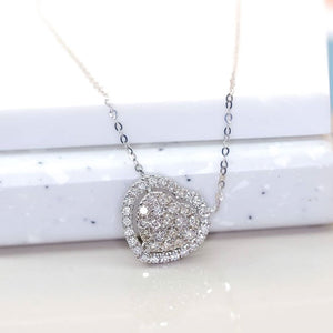 .49ct Heart Diamond Necklace 18k White Gold