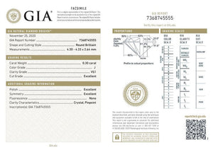 .30ct GIA Certified Diamond