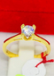 Maxine Solitaire Engagement Ring 18K Gold, Ladies Ring, Anniversary Gift Ring