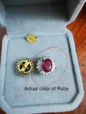 Ruby Pendant with Moissanite Custom Order for Ms. V