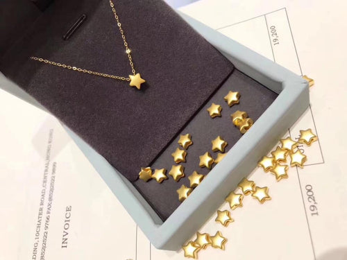 STARGAZER Necklace with 24K Gold Star Pendant