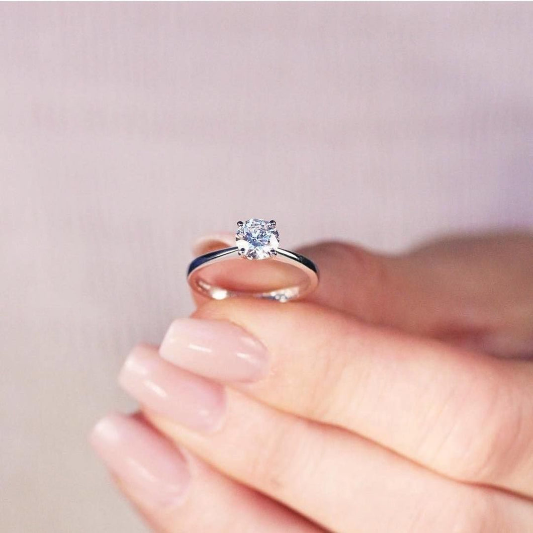 Engagement Ring, .50ct Solitaire, Tiffany, Pre-order Handmade