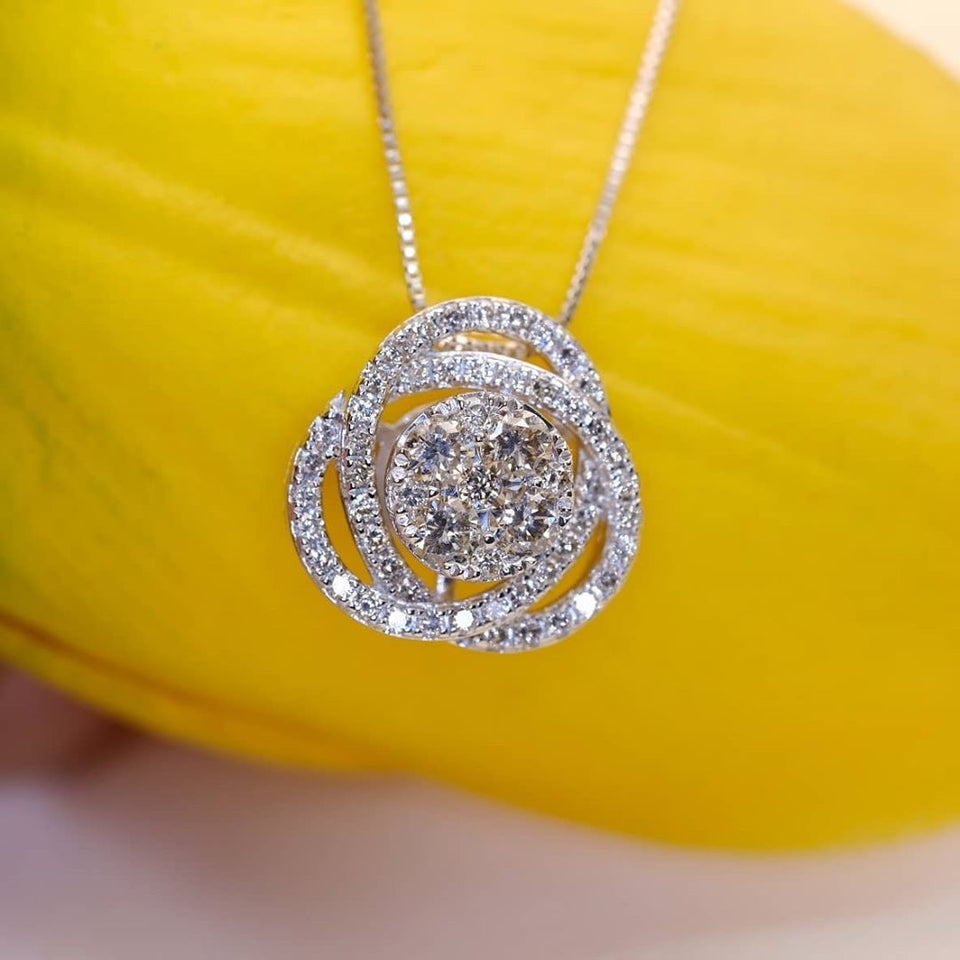 .75ct Diamond Necklace 18k White Gold