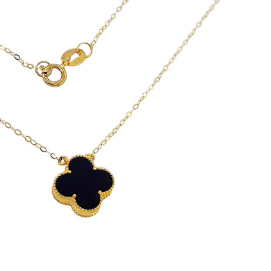Women's Necklace 18K Gold Black