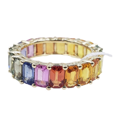 Eternity Ring with Semi-Precious Gemstones 14K Gold