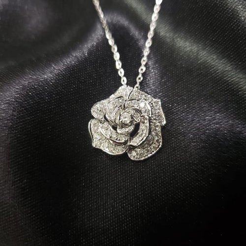 AGNES .50ct Diamond Rose Necklace - ZNZ Jewelry Philippines