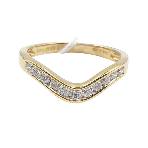 V-Shaped Diamond Ring 14K Gold