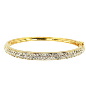 3ctw. Diamond Bangle 18K Gold