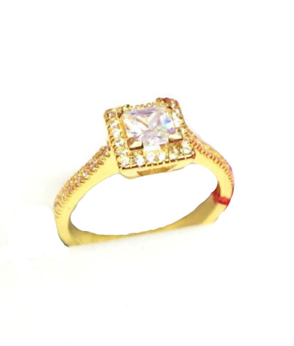 MARGARET 18K Princess Halo Engagement Ring - ZNZ Jewelry Philippines